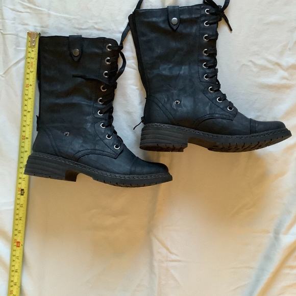 Wanted Shoes - Wanted Crowley women's black combat boots